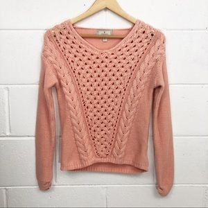 Ruby Moon Cable Knit Sweater